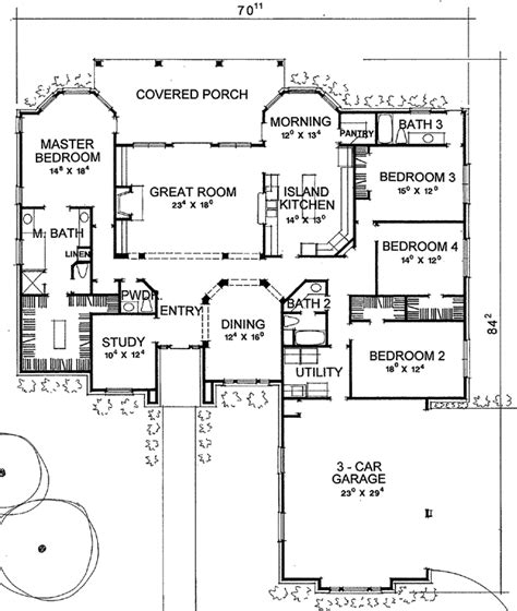 side garage floor plans the denton 2957 4 bedrooms and 3 baths the house designers