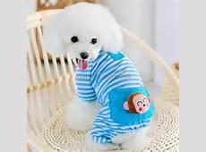 XS XL Small Pet Dog Stripes Pajamas Coat Cat Puppy Pet Clothes Apparel