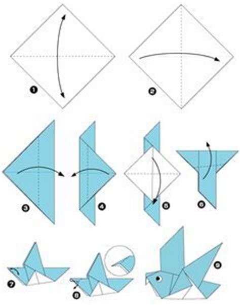 Origami How To Make A Bird - les 25 meilleures id 233 es de la cat 233 gorie oiseaux en origami