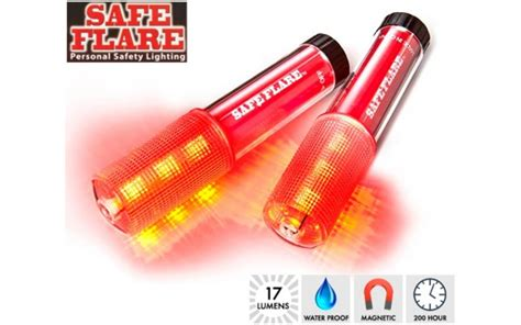 led safety flare light waterproof floating emergency 9 led flares 2pk yugster