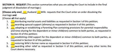 divorce section form 12 901 b 1 petition for divorce with children explained