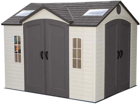Plastic Sheds 10x8 by Lifetime 15x8 Plastic Storage Shed Kit W Doors 60079