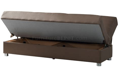 brown material sofa bed romano sofa bed in brown fabric by casamode