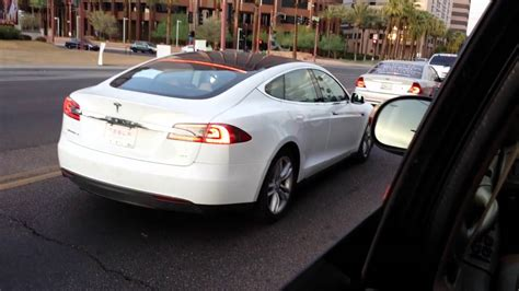 Tesla White Tesla Model S White In Arizona Tesla Mot