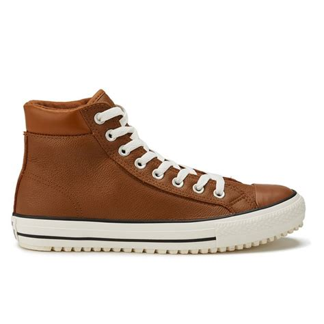 mens brown leather converse boots converse s chuck all leather thinsulate