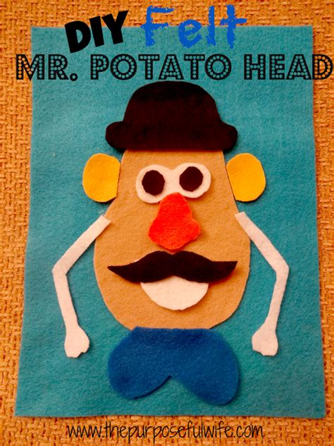 mr potato felt template felt mr potato