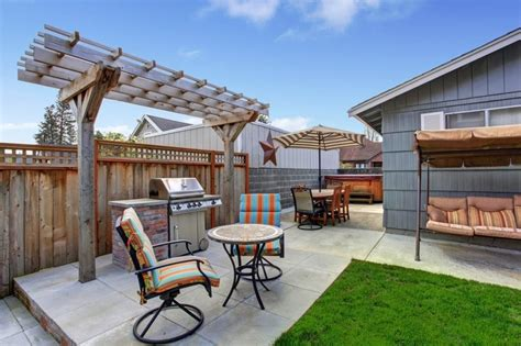 Patio Areas In Gardens Backyard Barbecue Areas