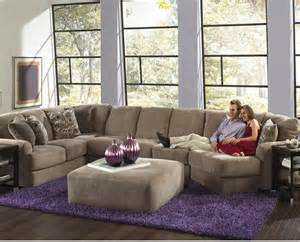 Sectional Sofa With Large Ottoman Jackson Malibu Large Chaise Sectional Sofa With Ottoman Taupe 3239 Sofas Sectionals