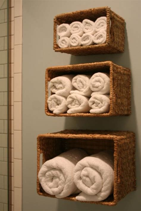 bathroom wall storage baskets how to fit the most storage into a small bathroom
