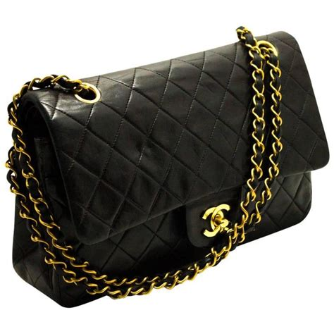 Black Quilted Chain Shoulder Bag by Chanel 2 55 Flap 10 Quot Chain Shoulder Bag Black