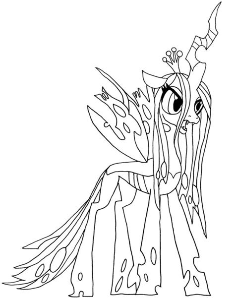 Free My Little Pony Queen Chrysalis Coloring Pages Chrysalis Coloring Pages