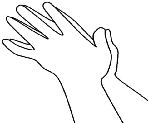 coloring pages of clapping hands hands clapping loud coloring pages coloring page of