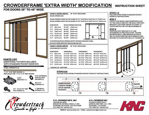 36 Inch Pocket Door Opening by Interior Door Opening Chart Brokeasshome