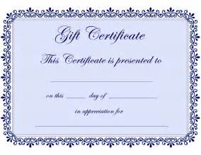 Free Gift Certificate Template by Certificate Templates Gift Certificate Template Free