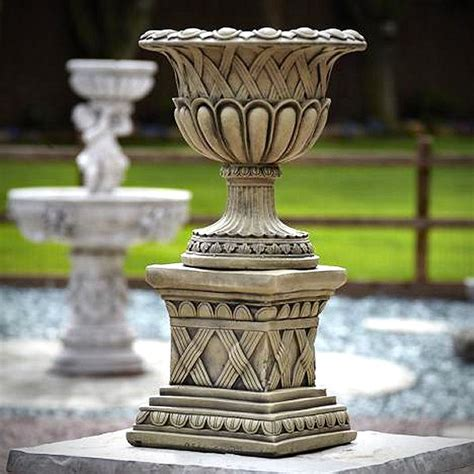 Garden Urns Planters by Weave Garden Planter Urn With Plinth