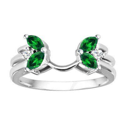 1000 images about emerald wedding ring enhancers on