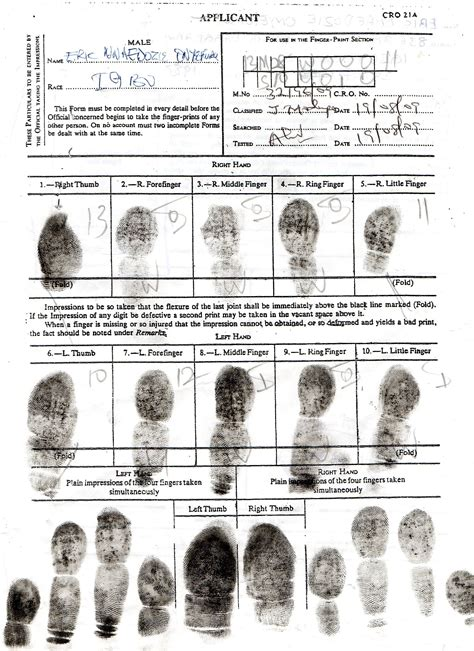 Records Arrest Reports Sle Of Completed Finger Print Nigeria Report