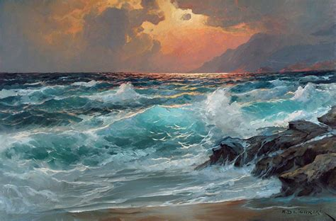 Alexander Dzigurski Paintings | alexander dzigurski eventide s majesty