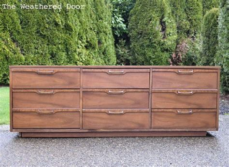 All Wood Dresser by Gray And Wood Mid Century Dresser Hometalk
