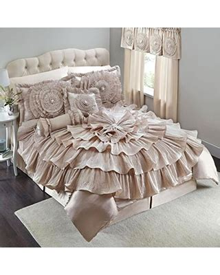 savings on romance bejeweled ruffled queen size 5 piece
