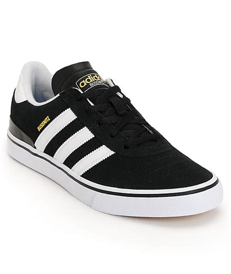 adidas busenitz vulc black white shoes