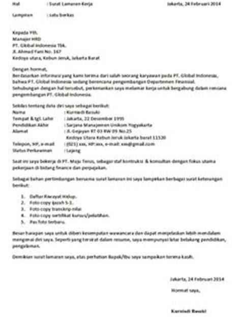 contoh surat lamaran kerja di hotel contoh lamaran kerja