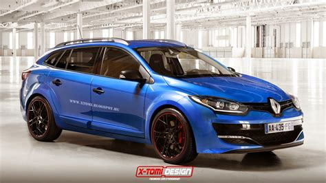 renault megane estate unfathomable renault megane estate rs rendered carscoops com