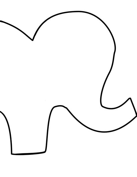 elephant cut out template made it stuffed animal elephants