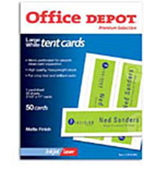 office depot medium tent cards template office supplies furniture technology at office depot
