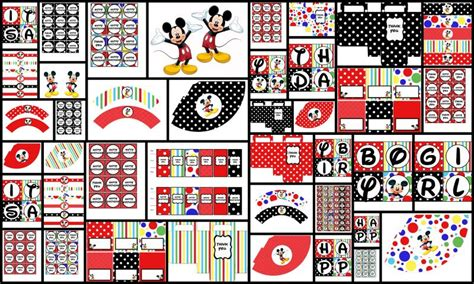 printable mickey mouse party decorations deluxe printable party decorations mickey zoleesboutique