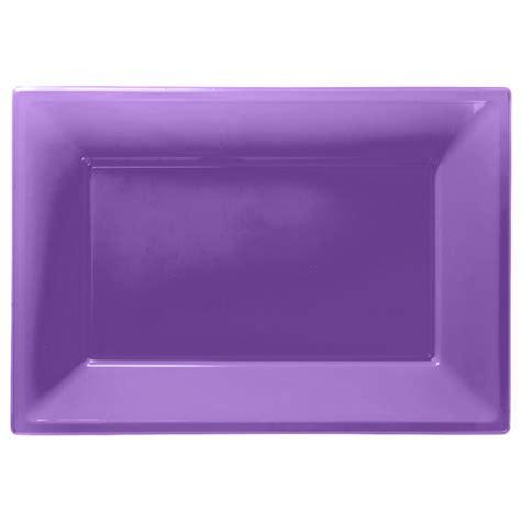 Purple Plastic Serving Platters 33cm X 23cm 6 Pkg 3 Plastic Buffet Platters
