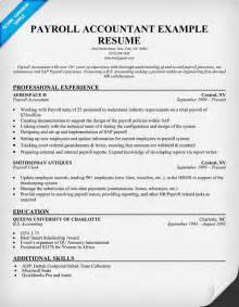 Payroll Accountant Resume by Pin General Ledger Accountant Resume Exle 187 On