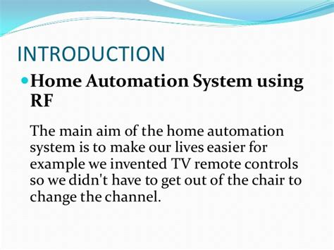 ppt rf based home automation system 1