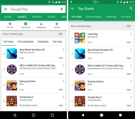 android playstore play store update with ui changes rolling out the android soul