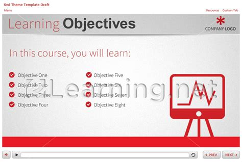 e learning html templates free captivate template redtheme the elearning network