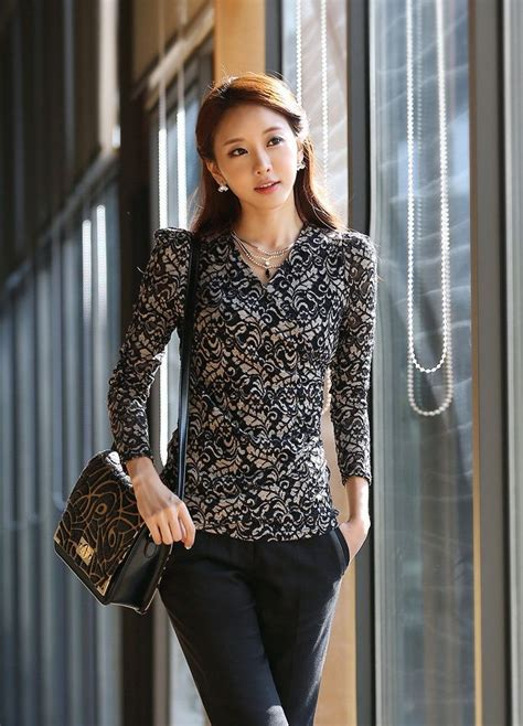 Kr Kotak Blouse Wanita 49 best images about moda y elegancia on formal shirts korean clothes and casual