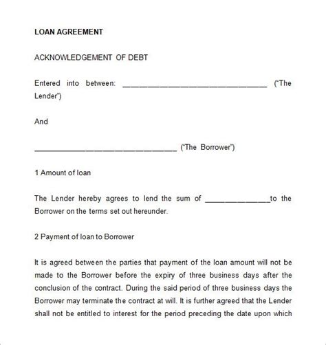 Guarantee Letter For Borrowing Money 26 Great Loan Agreement Template