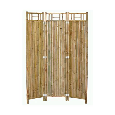 shop bamboo 54 3 panel natural oil folding indoor privacy screen at lowes com