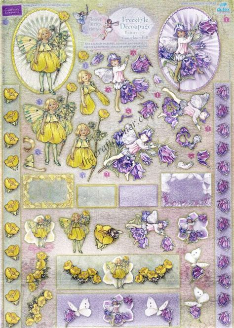 Dufex Decoupage - buttercup canterbury bell flower freestyle 3d die