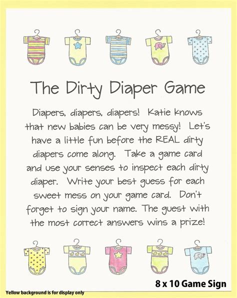 diaper template for baby shower game dirty diaper baby shower game guess the mess onesie baby