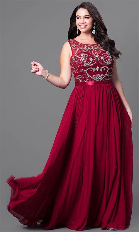 jeweled illusion  size prom dress promgirl