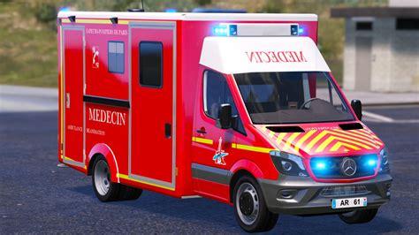 mod gta 5 en français ar bspp pompiers french ambulance vsav gta5 mods com