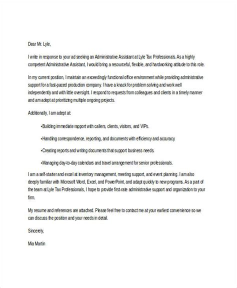application letter for employment as an administrative assistant 8 application letter for administrative assistant