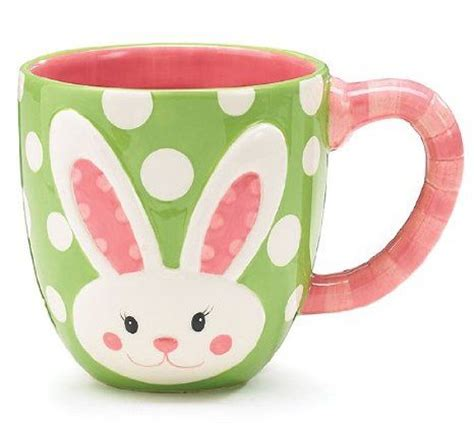 bunny face easter mug pottery painting ideas pinterest