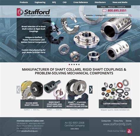New Website For Search Stafford Manufacturing New Website Includes 4 000 Standard Parts Easy Search