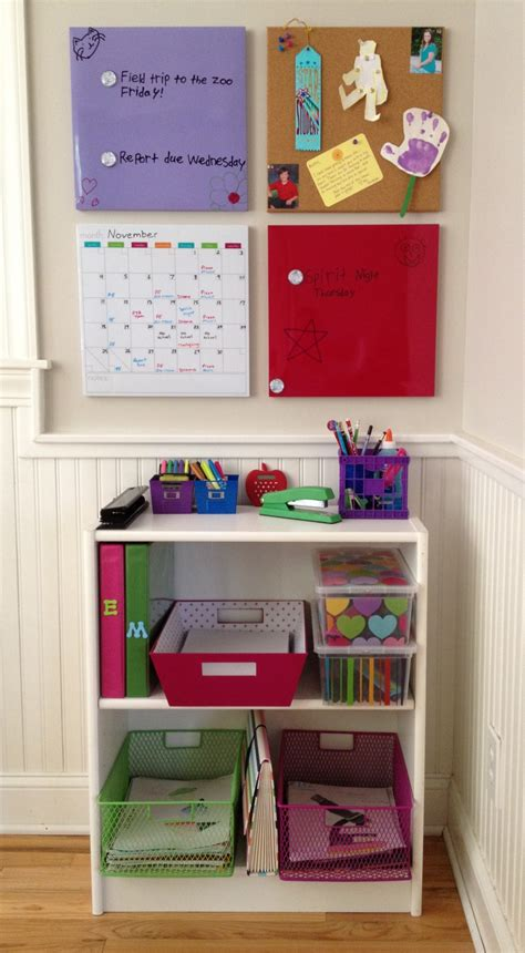 homework station get organized for school with a homework station for