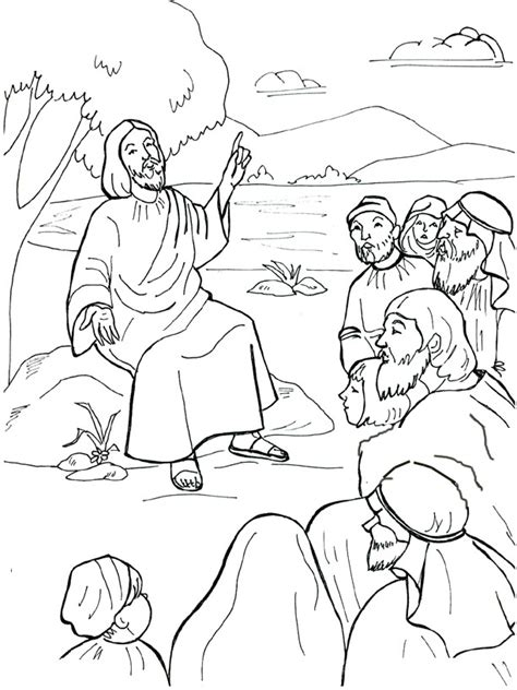 beatitudes coloring sheet coloring pages