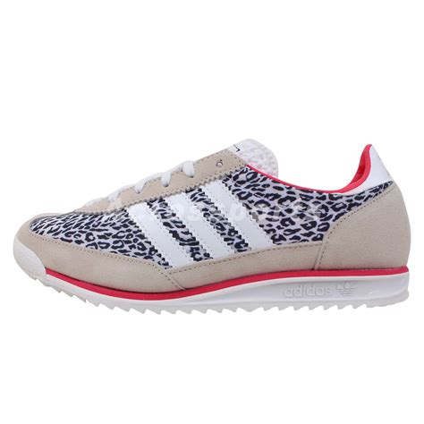 adidas originals sl72 w leopard womens retro running shoes runner sneakers ebay