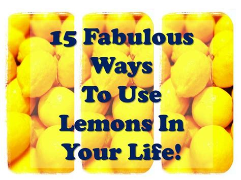 The Tao Of Detox by 15 Uses For Lemon Home Detox The Tao Of
