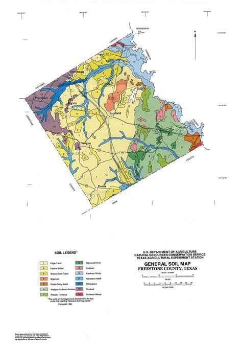 texas soil map general soil map freestone county texas the portal to texas history